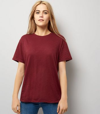 Burgundy Organic Cotton T-Shirt