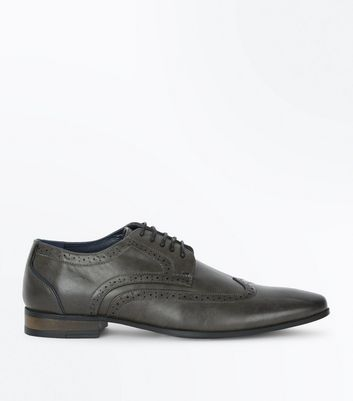 Charcoal Grey Perforated Brogues