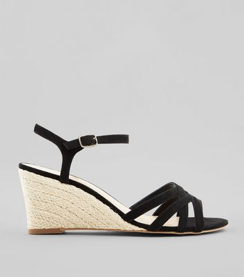 Black Suedette Wedges
