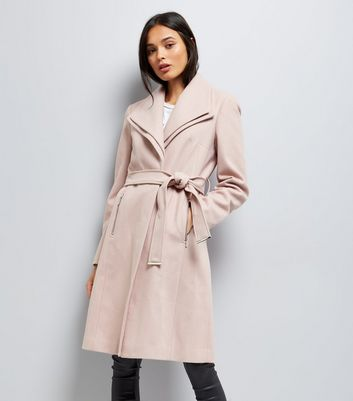 Mink Layered Collar Belted Coat