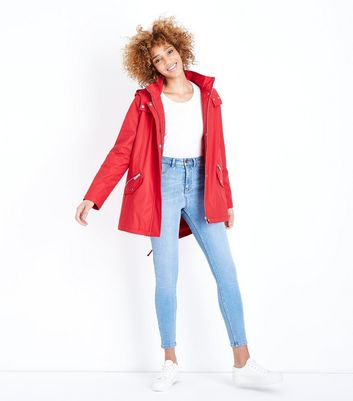 Red Quilt Lined Anorak