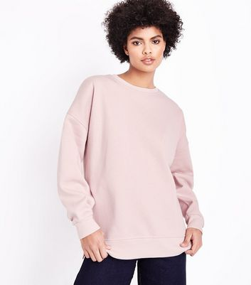Shell Pink Slouchy Split Side Sweater