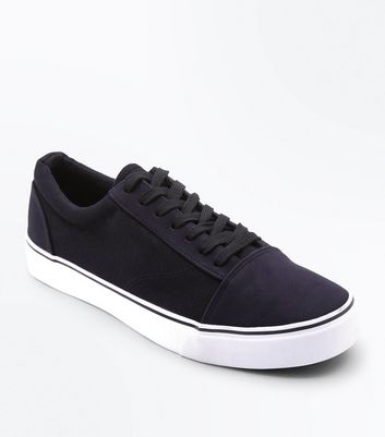 Black Contrast Canvas Trainers