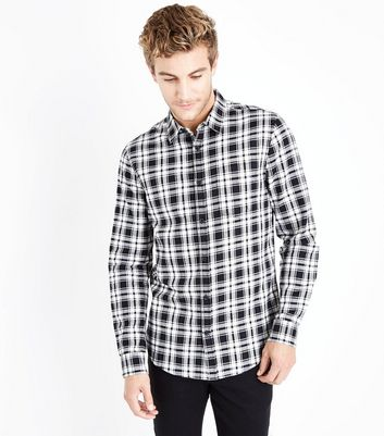 Monochrome Check Collared Shirt