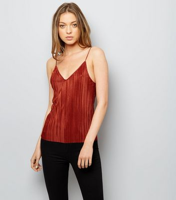 Brown Pleated Cami