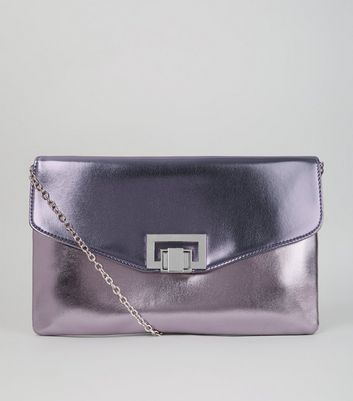 Lilac Metallic Shoulder Bag
