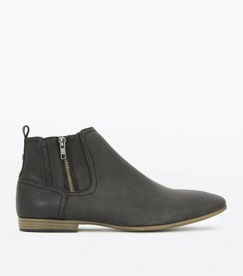 Black Zip Side Chelsea Boots