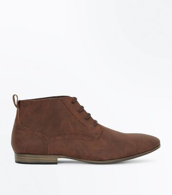 Dark Brown Lace Up Desert Boots