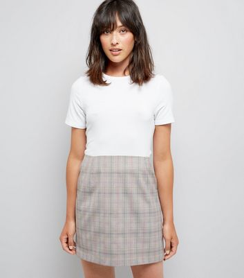 Brown Check Mini Skirt