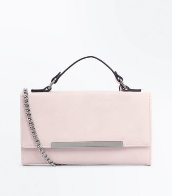 Cream Chain Strap Clutch
