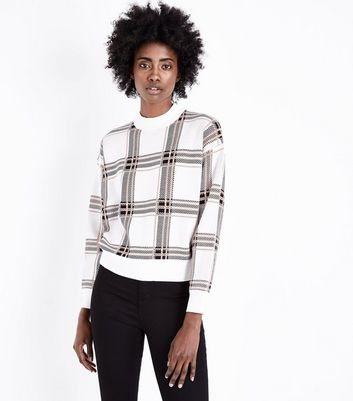 Brown Wide Check Jumper