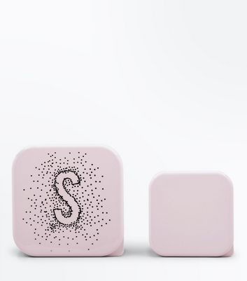 2 Pack Shell Pink S Initial Lunch Box