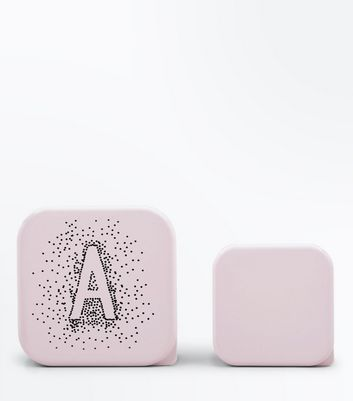 2 Pack Shell Pink A Initial Lunch Box