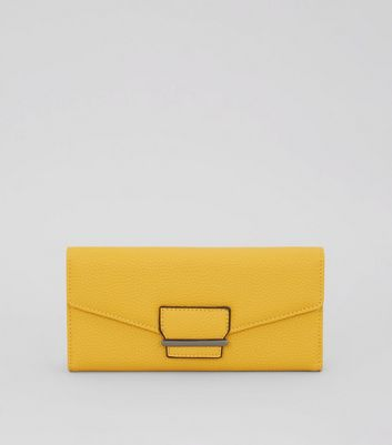 Yellow Foldover Purse