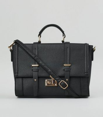 Black Cross Shoulder Satchel