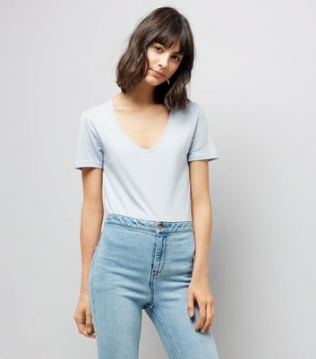 Tall Blue Scoop Neck T-Shirt