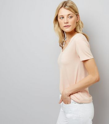 Tall Pink Scoop Neck T-Shirt