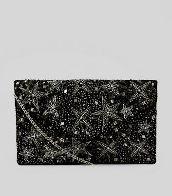 Black Star Embellished Clutch