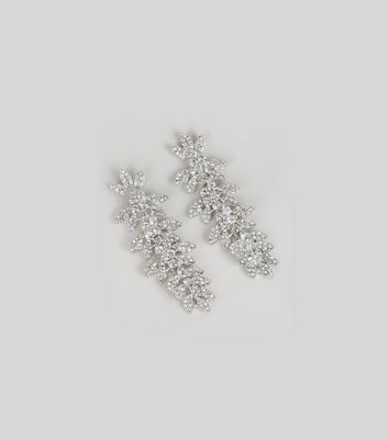 Silver Statement Leaf Earrings