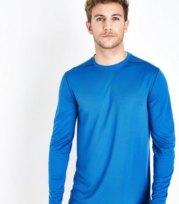 Bright Blue Long Sleeve Sports Top