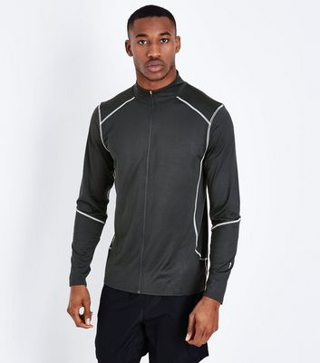 Black Zip Front Sports Top