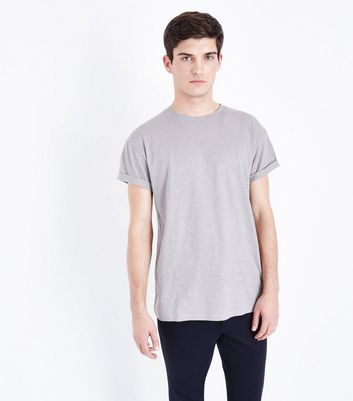 Light Grey Rolled Sleeve T-Shirt
