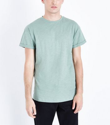 Green Rolled Sleeve T-Shirt