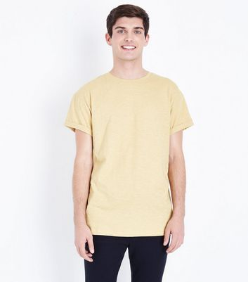 Yellow Rolled Sleeve T-Shirt