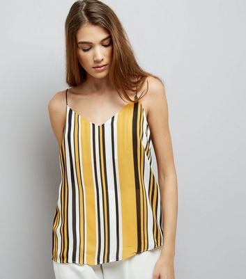 Tall Yellow Striped Cami Top