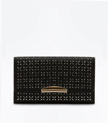 Black Cross Cut Out Purse Clutch