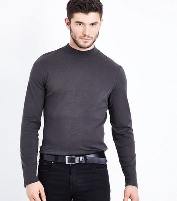 Charcoal Grey Turtle Neck Jumper