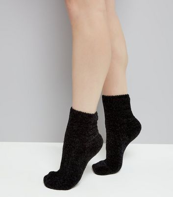 Black Super Soft Slipper Socks
