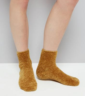 Yellow Super Soft Slipper Socks