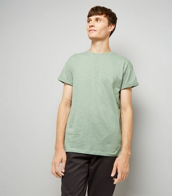 Pale Green Rolled Sleeve T-Shirt