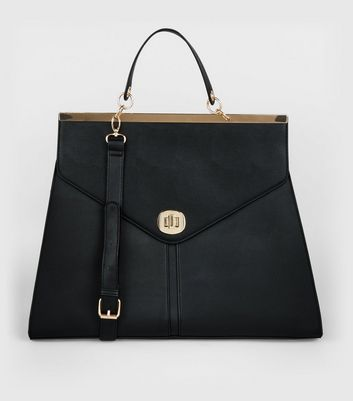 Black Oversized Top Handle Bag