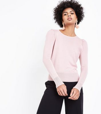 Shell Pink Puff Sleeve Jumper