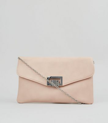 Pink Twist Lock Clutch Bag