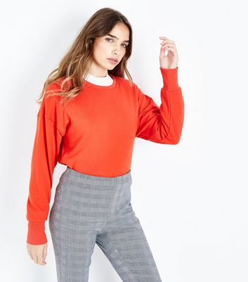 Red Cropped Sweatshirt