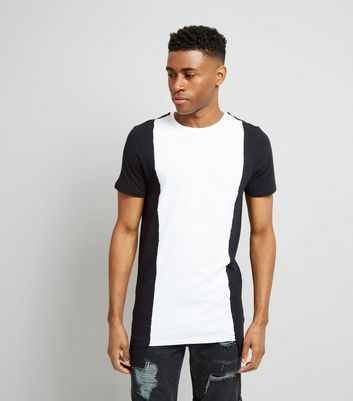 White Contrast Vertical Block T-Shirt