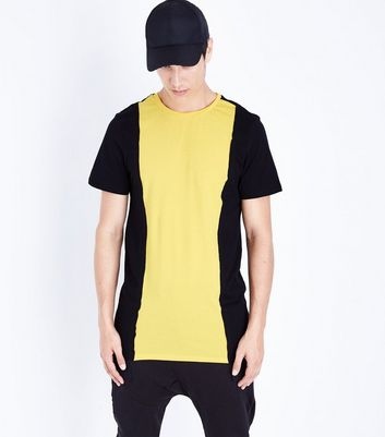 Yellow Contrast Vertical Block T-Shirt