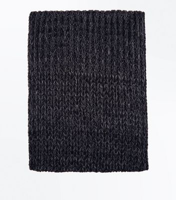 Black Textured Snood