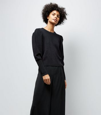 Black Balloon Sleeve Jumper