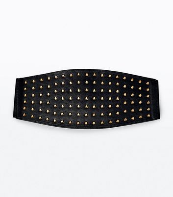 Black Stud Detail Waist Belt