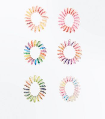 6 Pack Rainbow Mini Spiral Bobbles