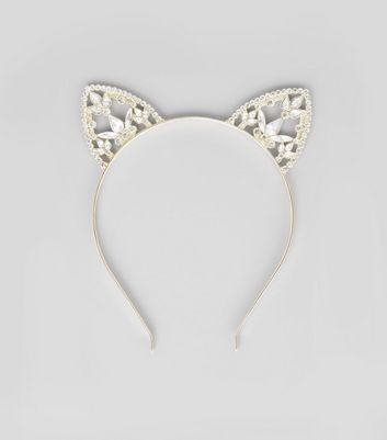 Gold Diamonte and Jewel Cat Ears