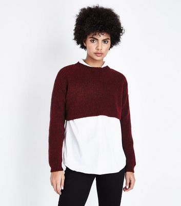Burgundy Cropped Jumper