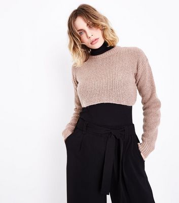 Shell Pink Cropped Jumper