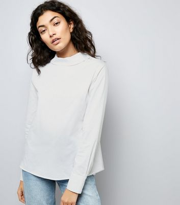 White Dip Hem Backwards Shirt