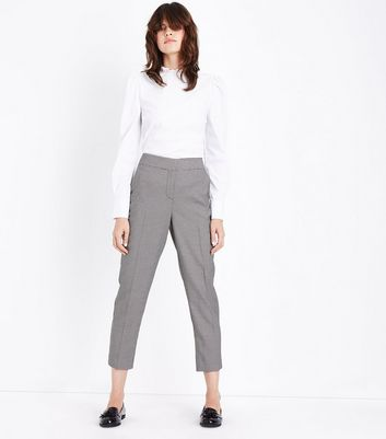 Brown Check Slim Leg Trousers