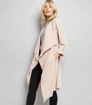 Veste longue rose style waterfall